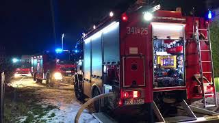 Pożar poddasza kamienicy w Kaliszu.