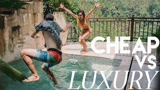 $10 VS $210 HOTEL CHALLENGE in Bali- Cheap VS Luxury