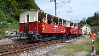 preview picture of video 'CH-9405 Wienacht-Tobel AR Video Bahnhof  Dampflok Rosa Eh 2/2 im August 2013'