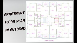 How To Draw Apartment Plan In AutoCad