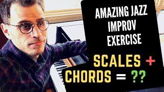 AMAZING Jazz Improvisation Exercise: Applying Scales Over Chords