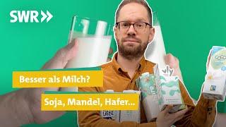 Was ist die beste Milchalternative? Drinks aus Soja, Mandel, Hafer & Co I Ökochecker SWR