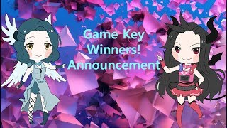 Game Key Winners and Announcement