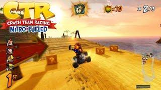 CTR Nitro-Fueled Gameplay Videos: Crash Cove, Polar Pass & Dingo Canyon