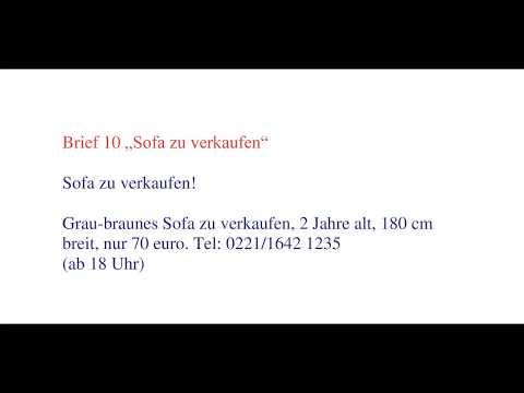 Deutsche Brief A1 A2 B1 Prüfung 31 Einladungsbrief смотреть онлайн