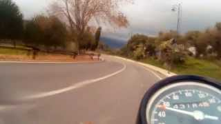 preview picture of video 'SJ4000 on Honda four 500cc - From Tindari to Oliveri (Sicily)'