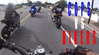 Cops trying to stop bikers...watch what happens | Cops vs Bikers Compilation