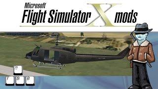 UH-1 Huey at Tamworth (YSTW) in Flight Simulator X - hmong video