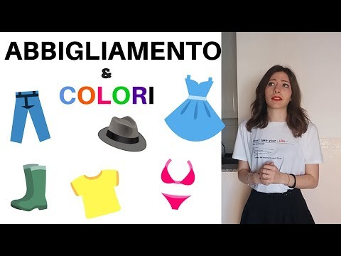 I colori e l'abbigliamento italiano - Italian colors and clothes - colores y ropa en italiano