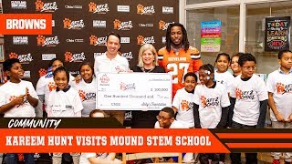 Kareem Hunt Helps Arby's Foundation Donate $100,00 to Cleveland Schools