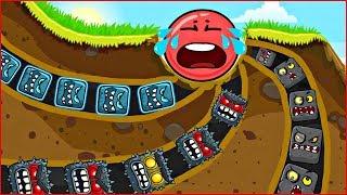 ОГО КАКИЕ ТОННЕЛИ ! КРАСНЫЙ ШАРИК ! новая веселая игра ! Мультик Для детей !