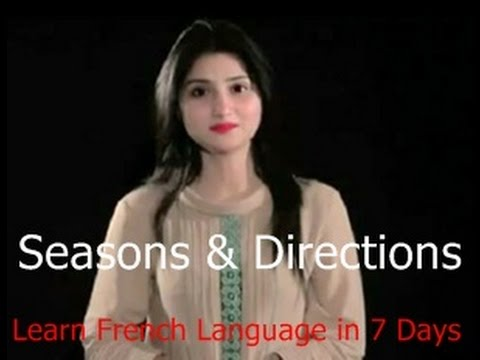 Seasons & Directions , french lessons online free , Learn French basic Language