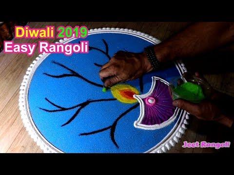 easy diwali rangoli design by jeet