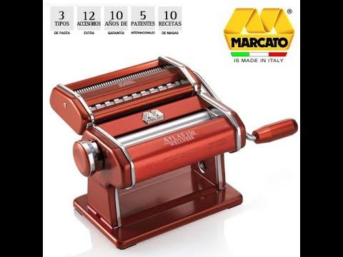Máquina para hacer pasta fresca Marcato Atlas y tendedero Tacapasta (español)