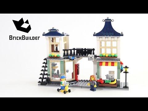 Vidéo LEGO Creator 31036 : Le magasin de jouets et l'épicerie