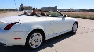 2002 Lexus SC430 Hardtop Convertible For Sale~Pearl White/Brown~Low Miles~Just Beautiful