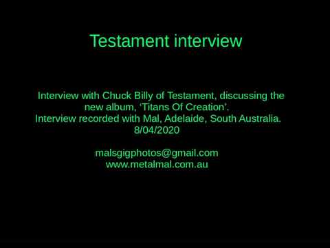 Download 20200408 Testament Interview Mp4 HD Video and MP3