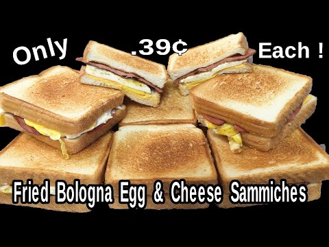 Fried Bologna Egg & Cheese Sandwich for .39¢