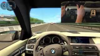 BMW M5 F10 City Car Driving Simulator G27 300 Km/h Big Crash Ending !!!