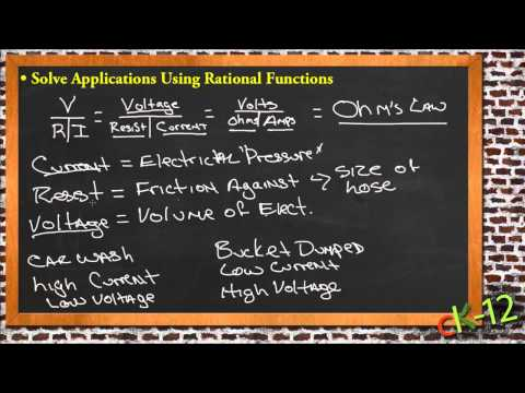 rational functions in real life applications