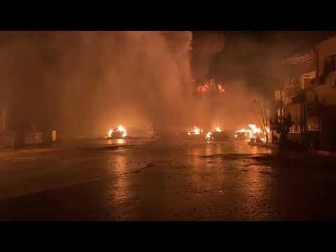 שריפה פרצה הלילה במפעל למחזור שמנים באזור התעשייה בדרום הר חברון