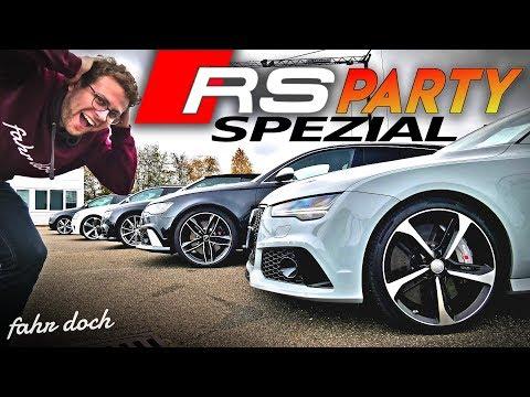 Audi RS3 vs RS4 vs RS5 vs RS6 vs RS7! Wir fahren ALLE! Gebrauchtwagen Review | Fahr doch