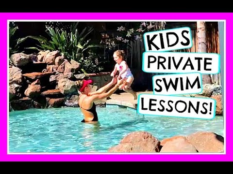 THE KIDS START PRIVATE SWIM LESSONS! (DAY 882)