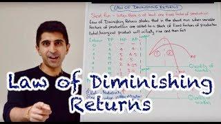 Y2 1) Law of Diminishing Returns