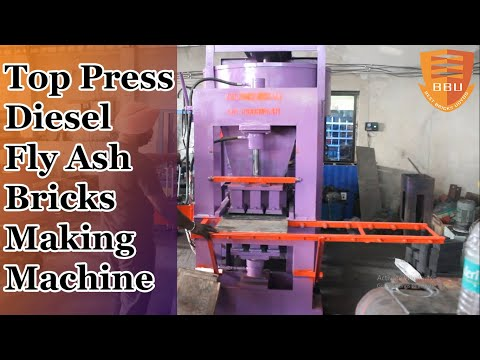 3 Cavity Fly Ash Bricks Making Machine Top Press