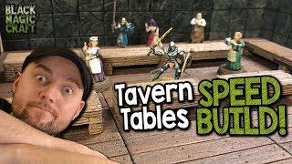Miniature Tavern Tables For D&D Tutorial (Black Magic Craft Episode 064)
