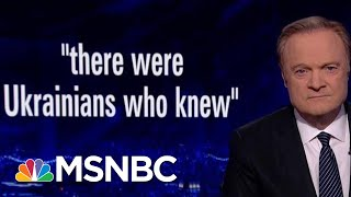 Defense Official: Transcripts Show Trump Playing Dirty Game With Ukraine Aid | The Last Word | MSNBC