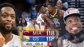 DURANT GETS CLUTCH FOR THE 1ST TIME IN HIS LIFE! WARRIORS Vs HEAT HIGHLIGHTS