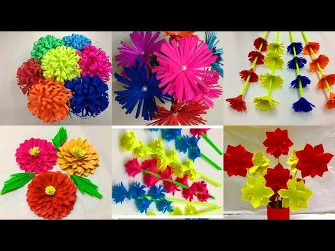 6 simple paper flowers easy paper flower making paper crafts 6 simple paper flowers easy paper flower making paper crafts diy mightylinksfo
