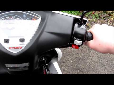 Kymco Super 8 review, 49cc 2 stroke scooter HD | Videos