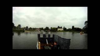 preview picture of video 'Shepperton Village Fair Raft Race 2012'