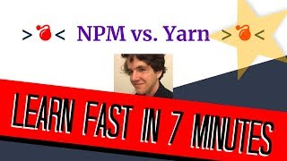 NPM vs. YARN | Node Package Manager Tutorial in 7 Minutes!!