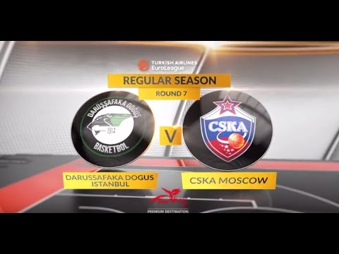 EuroLeague Highlights RS Round 7: Darussafaka Dogus Istanbul 91-83 CSKA Moscow