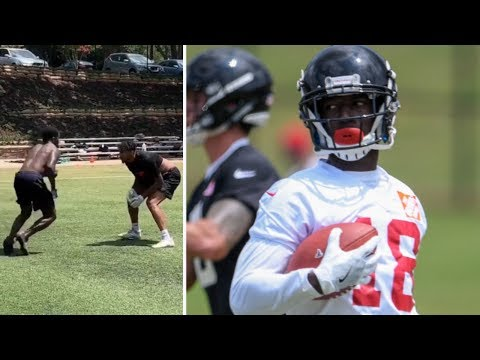 Atlanta Falcons Calvin Ridley PUTS THE MOVES On During Route Running Workout!