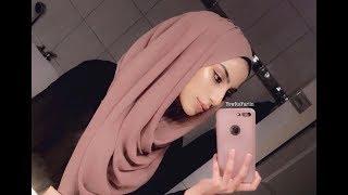 Easy Hijab Style For 2018!   Chiffon Scarf Tutorial