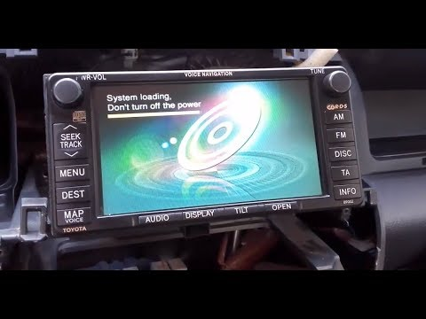 Toyota  Radio DVD Navigation system /Please insert correct map Disc