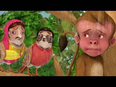 The Sparrow and the Shivering Monkey Kahaniya | Hindi Stories for Kids | Infobells