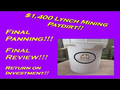 $1,000 00 Gold Paydirt - Unclassified Nugget Bucket from