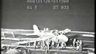 "McNallyTV:  U.S. Marine Captain Rand McNally ""Atlas"" crash lands on USS Ranger"