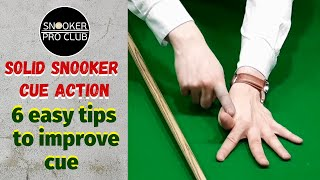 Snooker coaching - Solid snooker cue action (6 easy tips to improve cue action)_
