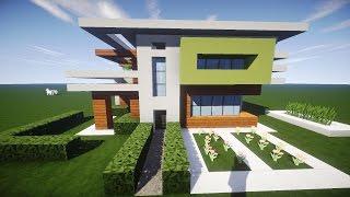 Minecraft Modernes Haus Mit Wintergarten Braunweiß Bauen Tutorial - Minecraft hauser einrichten deutsch