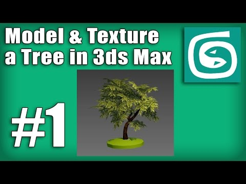 3ds Max Tree Tutorial – #1 – How to model and unwrap the tree trunk