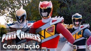 Power Rangers em Português   Rangers Dino Super Charge juntos!