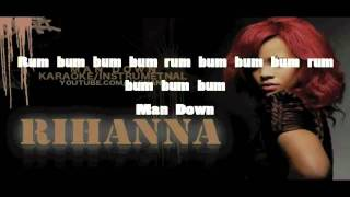 Rihanna    Man Down    HQ Karaoke_Instrumental