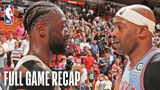 HAWKS vs HEAT | Vince Carter & Dwyane Wade Last Match-up | March 4, 2019