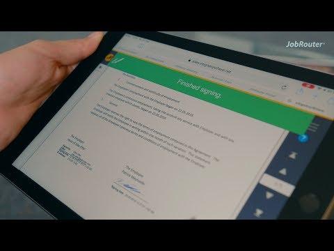 Rechtsverbindliche elektronische Signatur aus beliebigen Prozessen heraus mit JobRouter Sign
